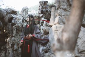 кимоно, горы, костюм, парень, флейта