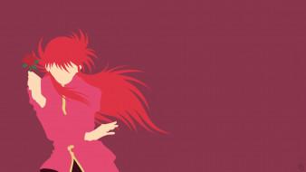 аниме, yu yu hakusho, фон, взгляд, девушка