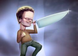 юмор и приколы, нож, фон, мужчина