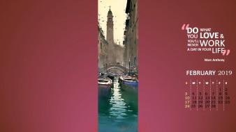 мост, гондола, водоем