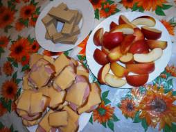 еда, бутерброды,  гамбургеры,  канапе, яблоки, сыр, вафли, хлеб, колбаса