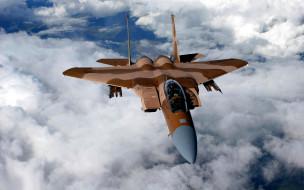 f-15, eagle, облака, истребитель, mcdonnell douglas