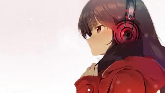 аниме, музыка, девушка