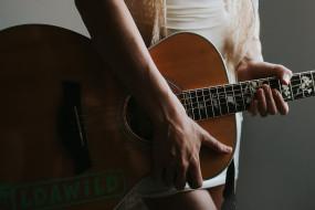 гитара, девушка