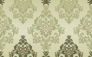 pattern, текстура, background, зеленый, classic, seamless, damask, орнамент, vector