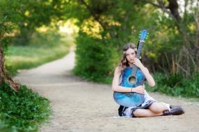 музыка, -другое, гитара, девушка
