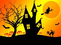 летучие мыши, дом, фон