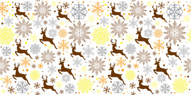 снежинки, животное, олень