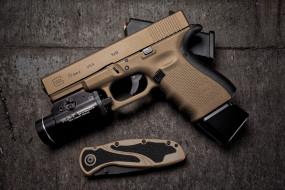 glock 19, оружие, пистолеты, ствол