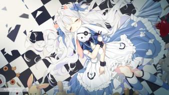 аниме, alice in wonderland, девочка