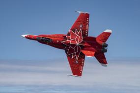 cf-18, авиация, боевые самолёты, красный, cамолеты, истребители, дизайн, сf-18