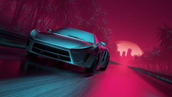 Synthwave Sport Car, mentat3d, By mentat3d, New Retro Wave, Synth pop, Синти, Synthwave, Синти-поп, Retrowave, Synth, Darkwave, Synthpop, Electronic, Neon, Art