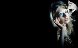 блондинка, лицо, певица, Кристина Агилера