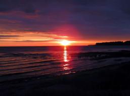 небо, солнце, море, берег