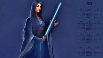 взгляд, оружие, кимоно, девушка