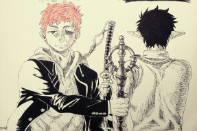 разное, арты, оружие, меч, уши, парни