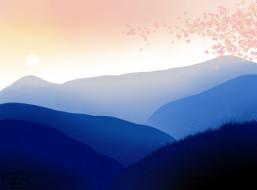 горы, фон