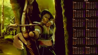 девушка, стрела, лук