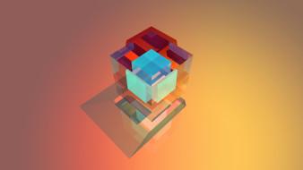 кубик, куб, грань, абстракция
