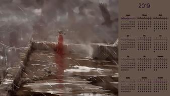 человек, птица, дождь