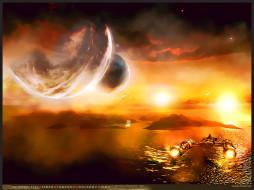 звездолет, планета, водоем