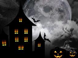 31 октября, Хэллоуин, дом, ночь