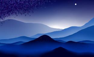 горы, луна