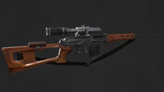 оружие, 3d, классика, свд, снайперская, винтовка, драгунова