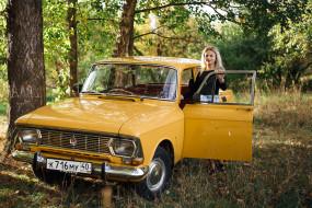 классика, Москвич- 412, девушка, автомобиль