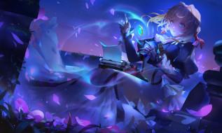 обои для рабочего стола 2297x1380 аниме, violet evergarden, девушка