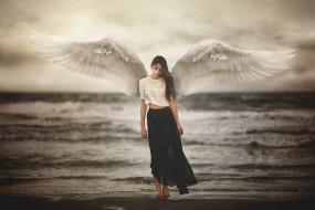 разное, компьютерный дизайн, ангел, девушка, marya