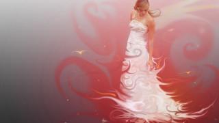 девушка, платье