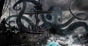 пираты, осьминог