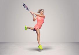 Eugenie Bouchard, фон, теннис, взгляд, девушка