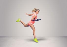 Eugenie Bouchard, теннис, фон, взгляд, девушка