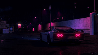 Синтвейв, Ретровейв, New Retro Wave, Synthwave, Retrowave, Synth, Neon, Rain, Outrun, Futuresynth, Дождь, Машина, Авто, Графика