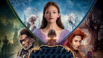 the nutcracker and the four realms, фэнтези, 2018, постер, маккензи фой, морган фриман, хелен миррен
