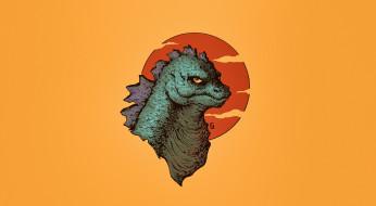 Монстр, Фон, Годзилла, Kaiju, Art, Арт, By Leonardo Gonzalez, Godzilla, Leonardo Gonzalez, Creatures