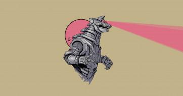 Годзилла, Фон, Leonardo Gonzalez, Godzilla, By Leonardo Gonzalez, Creatures, Kaiju, Art, Арт, Mecha Godzilla, Монстр, By LG, Kaiju portraits