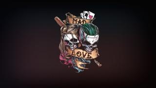 рисованное, минимализм, джокер, арт, joker, харли, квинн, dc, comics, harley, quinn, сумасшедшая, любовь, безумная, mad, love
