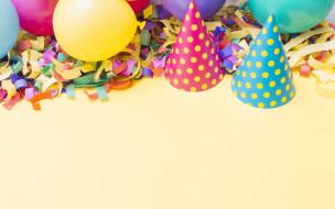 шары, праздник, шапочки, День рождения