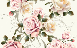 текстура, цветы, фон