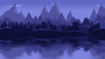 лес, горы