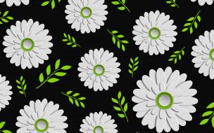 Leaves, Background, Floral, Colorful, Green, Design, черный фон, текстура, цветы