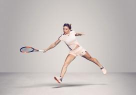 спорт, теннис, девушка, взгляд, фон, simona, halep