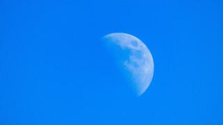 космос, луна, небо, день