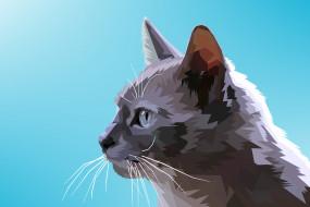 векторная графика, животные , animals, кот