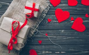 праздничные, день святого валентина,  сердечки,  любовь, подарки, ленты, сердечки