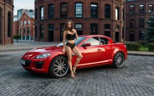 автомобиль, фон, взгляд, девушка