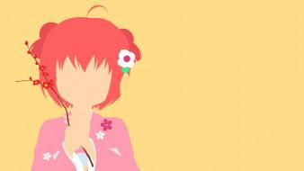 аниме, yuru yuri, взгляд, девушка, yuru, yuri, фон